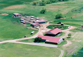 Aerial view of the University Farm