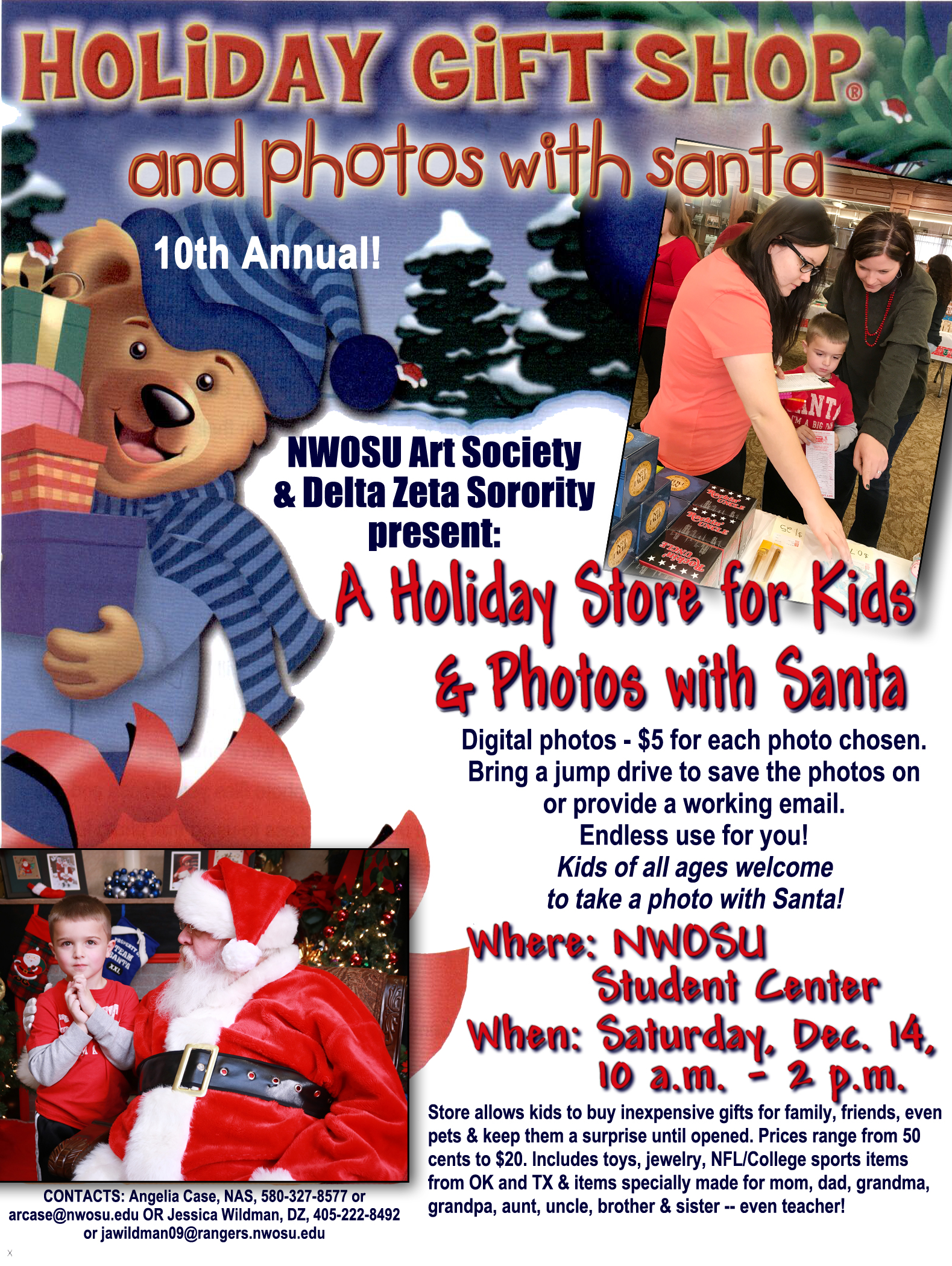 Holiday Store for Kids and Photos with Santa poster