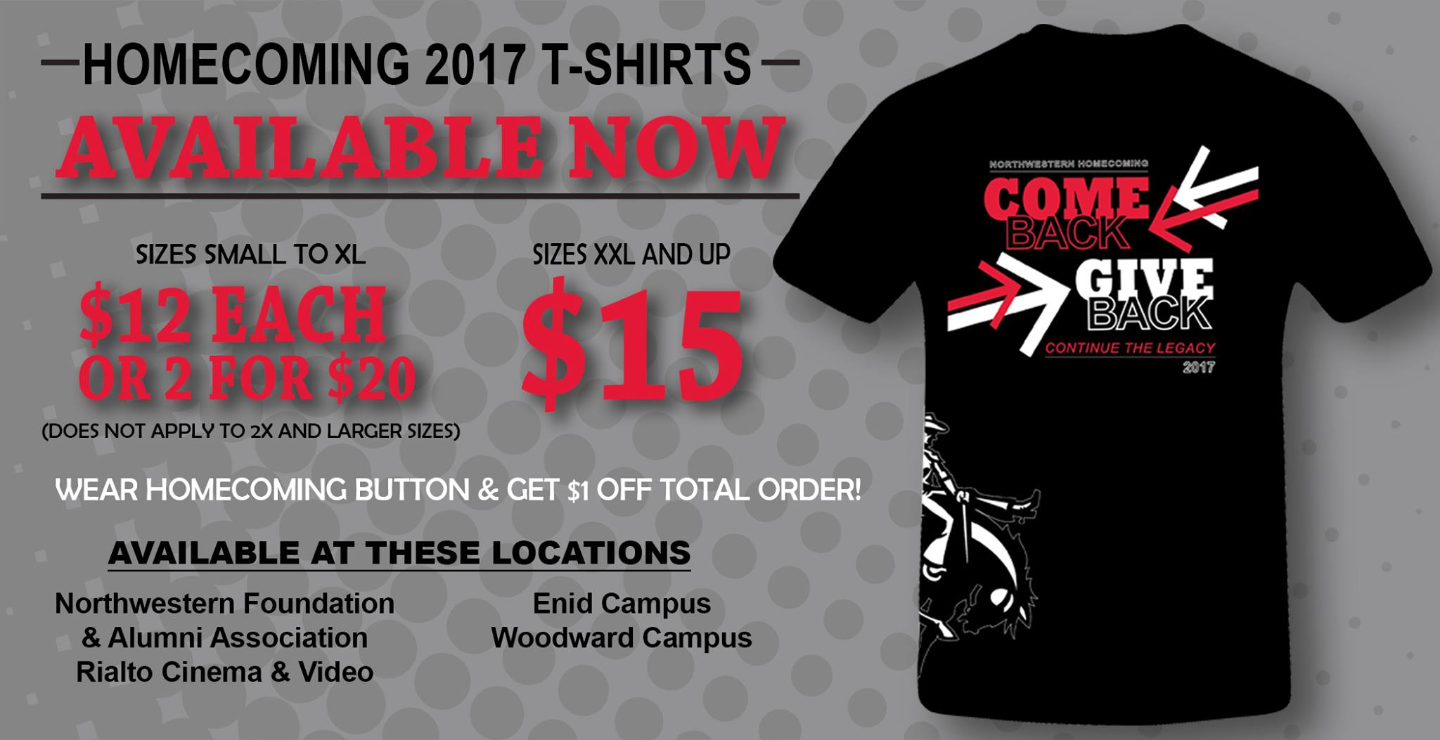 Click Here To See The 2017 Homecoming T Shirt Design!