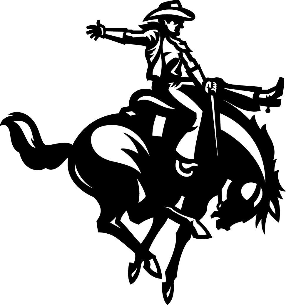 Northwestern horse and rider logo