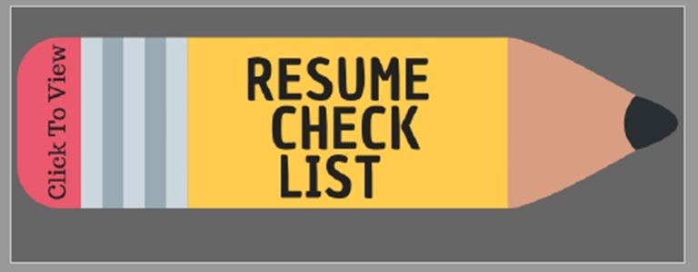 Resume Check List Picture