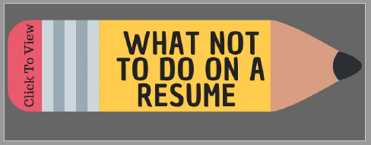 What Not To Do On A Resume