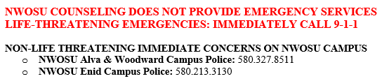 life threatening emergencies- immediately call 9-1-1