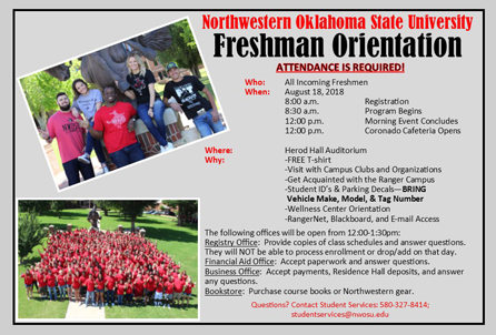 Freshman Orientation Graphic
