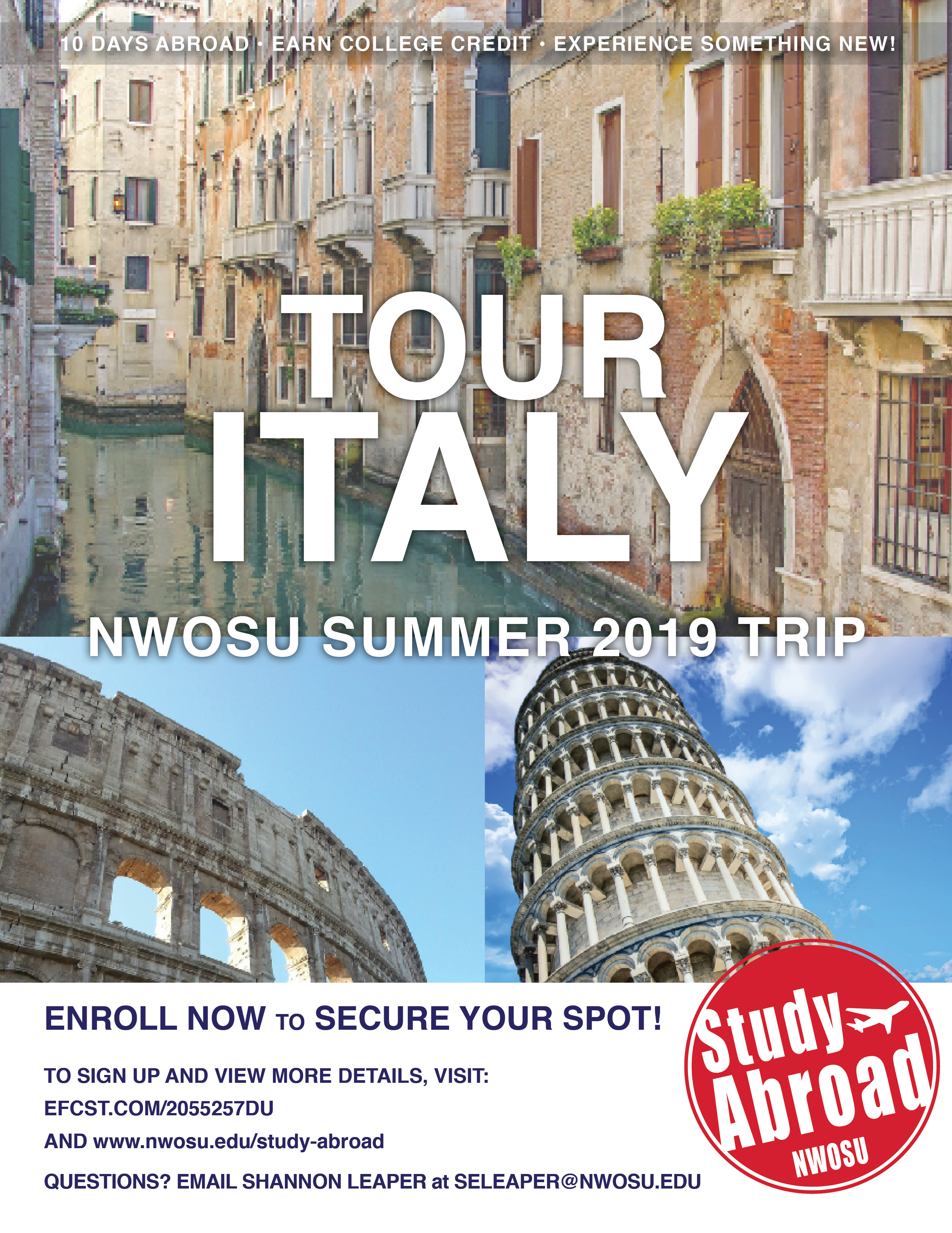 2019 Italy Trip Poster