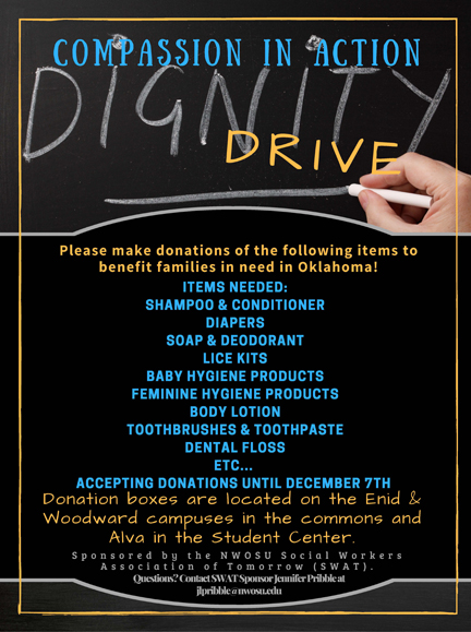 Compassion in Action Dignity Drive flyer