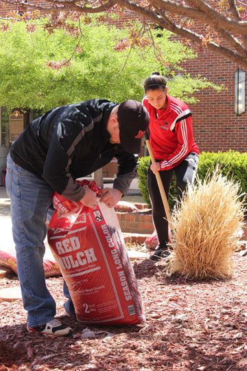 This year's Campus Beautification event on the Alva campus is April 18 with Staff Council members joining volunteers at the Woodward campus on April 24 and the Enid campus on April 25 for similar events.