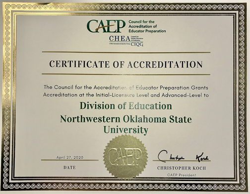 Education Accreditation Certificate