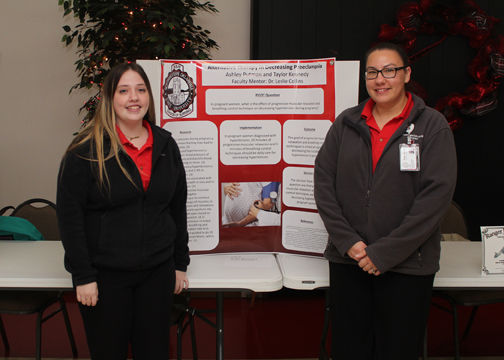Ashley Putnam and Taylor Kennedy won first place in the nursing category