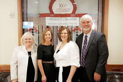 Dr. Deena Fisher, Dr. Kylene Rehder, Raquel Razien and Dr. James Bell