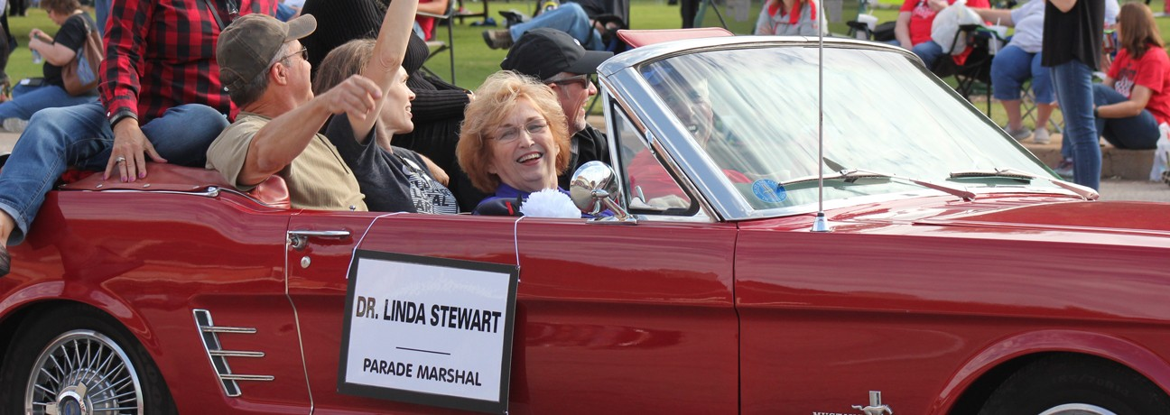 Dr. Linda Stewart as the 2016 Parade Marshal