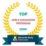 DiscoverEarlyChildhoodEDU.org seal for Top 85 Most Affordable Early Childhood Education Programs
